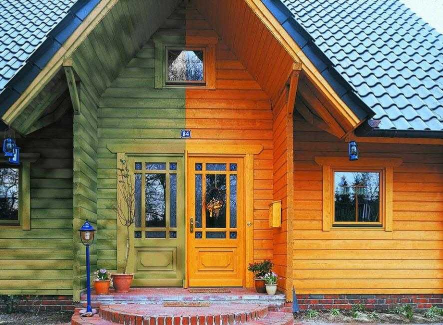 Правила шлифовки, конопатки, покраски дома из бруса: технология процесса