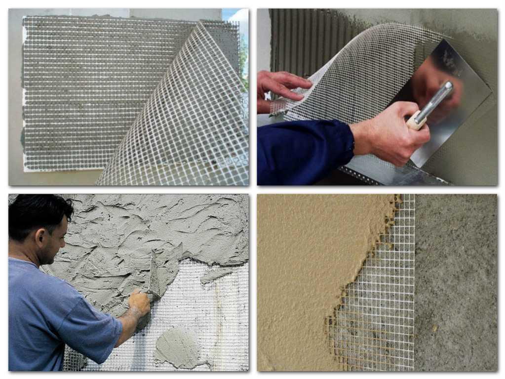 Стекловолоконная сетка для нанесения штукатурки при отделке фасада дома