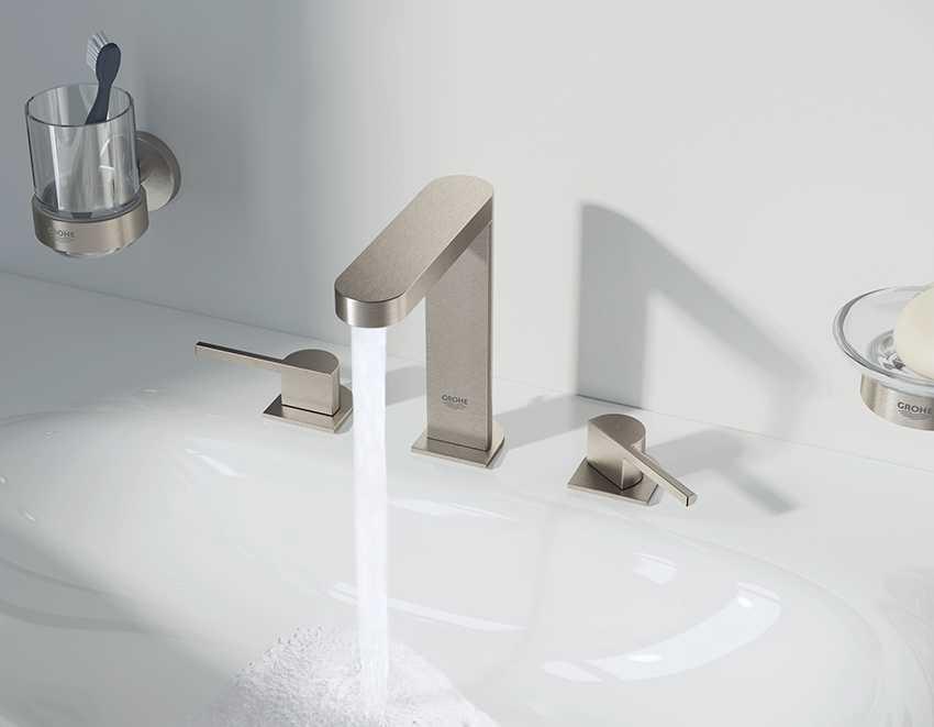 Смесители GROHE Plus с цифровым дисплеем для температуры – легкий способ экономить электроэнергию и воду
